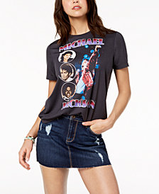 Mighty Fine Juniors' Michael Jackson Graphic-Print T-Shirt
