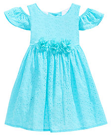 Good Lad Cold Shoulder Eyelet Dress, Little Girls