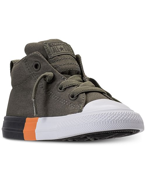75cb2ec57a75 ... Converse Toddler Boys  Chuck Taylor All Star Street Mid Color Block  Casual Sneakers from Finish ...