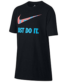 Nike Just Do It-Print Cotton T-Shirt, Little Boys