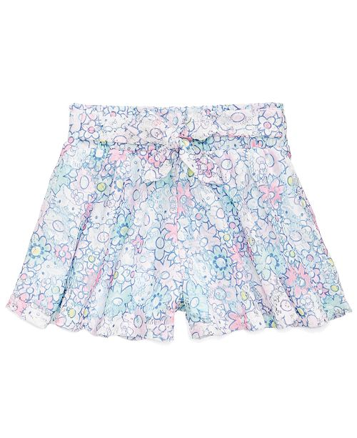 Hello Kitty Printed Lace Shorts, Little Girls