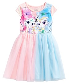 Nickelodeon Shimmer and Shine Colorblocked Tutu Dress, Little Girls