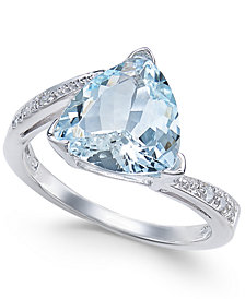 Aquamarine (2-9/10 ct. t.w.) & Diamond Accent Ring