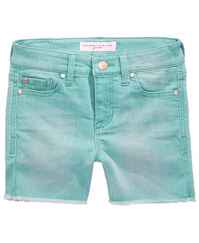 Celebrity Pink Frayed Hem Shorts, Big Girls