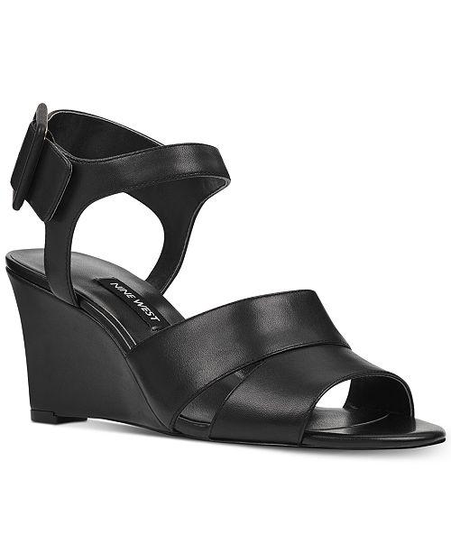 ff8ea87f5606 Nine West Vahan Wedge Sandals   Reviews - Sandals   Flip Flops ...