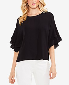 Tiered Ruffle-Sleeve Top