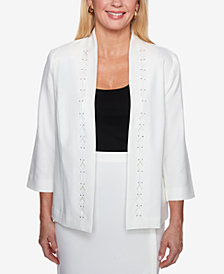 Alfred Dunner Roman Holiday Diamond Cutout Jacket