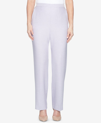 Alfred Dunner Roman Holiday Pull-On Flat-Front Pants