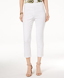 I.N.C. Petite Ruffle-Back Capri Pants, Created for Macy's