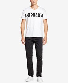 DKNY Men's Relaxed-Straight Fit Stretch Twill Pants, Created for Macy's