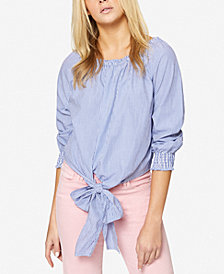 Sanctuary Claire Cotton Tie-Front Top