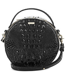 Brahmin Melbourne Lane Top Handle Circle Embossed Leather Crossbody
