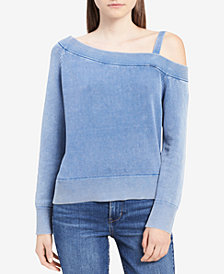 Calvin Klein Jeans Cotton One-Shoulder Sweater