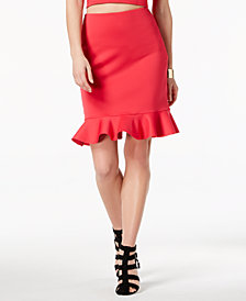 GUESS Molly Peplum Pencil Skirt