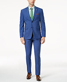 Original Penguin Men's Slim-Fit Stretch Bright Blue Suit