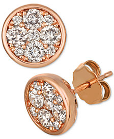 Le Vian Strawberry & Nude™ Diamond Cluster Stud Earrings (1 ct t.w.)
