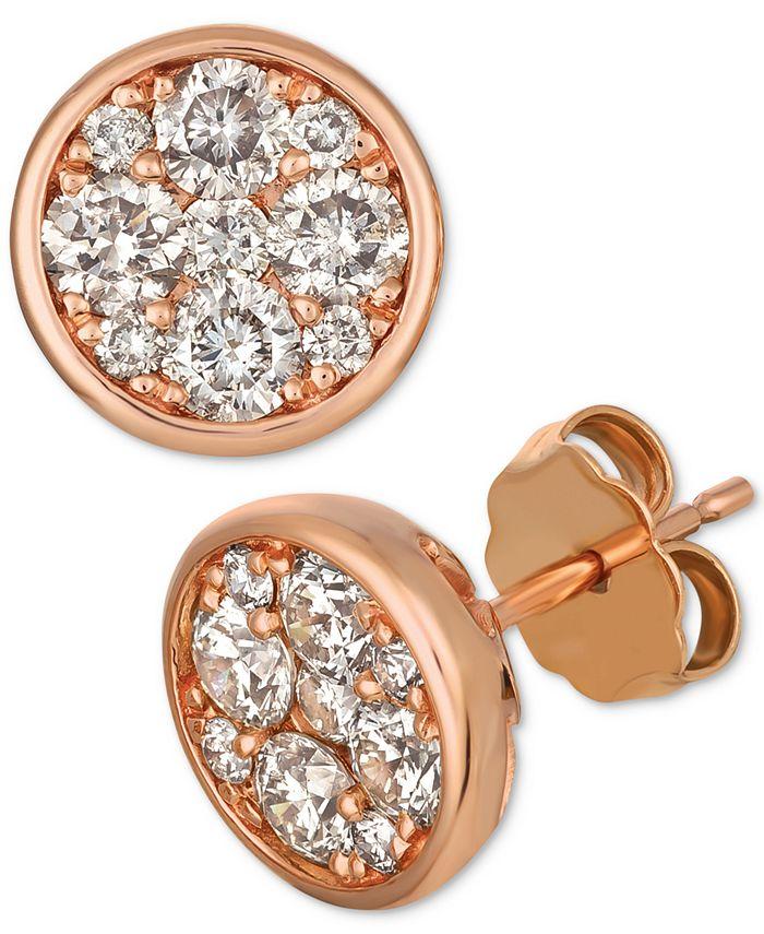 Le Vian - Diamond Cluster Stud Earrings (1 ct t.w.)