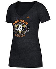 adidas Women's Anaheim Ducks Banner Dazzle T-Shirt