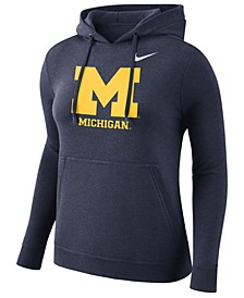 Women's Michigan Wolverines Club Hooded Sweatshirt