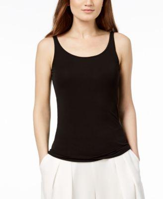 Silk Jersey Tank Top, Regular & Petite