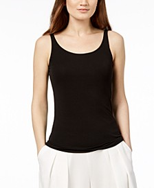 Silk Jersey Tank Top, Regular & Petite