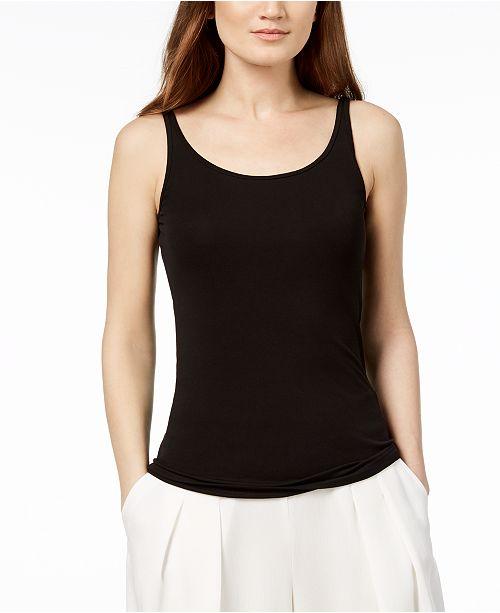 46056600109ee4 Eileen Fisher Silk Jersey Tank Top, Regular & Petite & Reviews ...