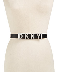 DKNY Logo Plaque Belt, Created for Macy's