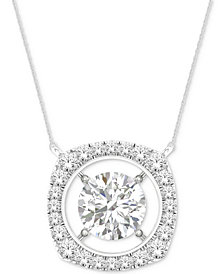 MAGNIFICENCE Diamond Open Halo Pendant Necklace (1/3 ct. t.w.) in 14k White Gold