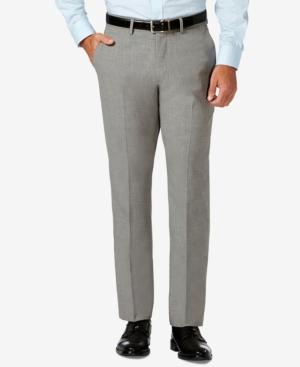 Slim Fit 4-Way Stretch Flat Front Dress Pants