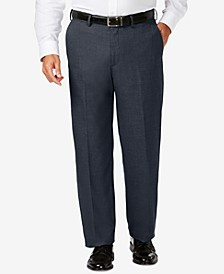 J.M. Big & Tall Classic Fit Stretch Sharkskin Flat Front Dress Pants