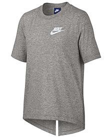 Nike Logo-Print Split-Back T-Shirt, Big Girls