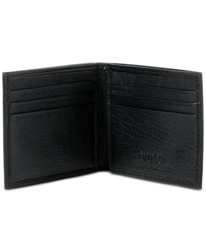 Polo Ralph Lauren Men's Wallet, Pebbled Bifold Wallet & Reviews - All Accessories - Men - Macy's