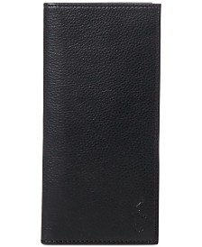 Polo Ralph Lauren Men's Wallet, Narrow Pebbled Wallet
