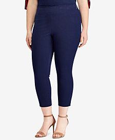 Lauren Ralph Lauren Plus Size Cropped Skinny Pants