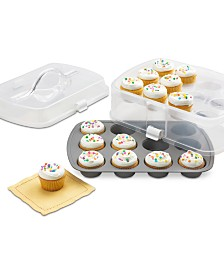 Martha Stewart Collection 2-Tier Cupcake Carrier, Created for Macy's