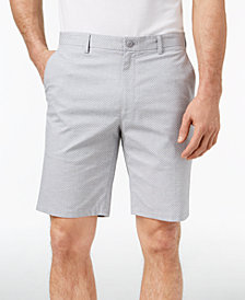 "Alfani Men's Geometric Dobby Flat-Front 9.5"" Shorts, Created for Macy's"