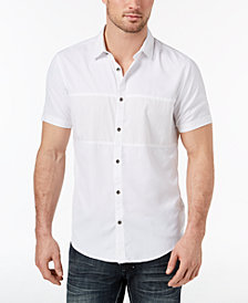 I.N.C. Men's Print Blocked Shirt, Created for Macy's