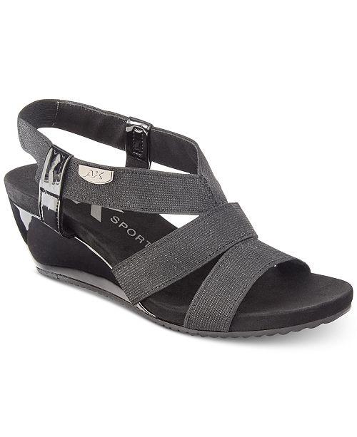 Boutique Pas Cher Sneakernews Pas Cher En Ligne Anne Klein Cabrini Sandale Compensée 1B0cOU6ms