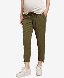 Jessica Simpson Maternity Twill Drawstring Pants