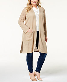 Love Scarlett Plus Size Open-Front Duster Cardigan
