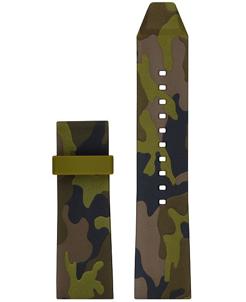 eba5d7decc3f Michael Kors Access Men's Grayson Green Camo Silicone Smart Watch Strap