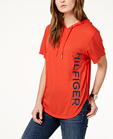 Tommy Hilfiger Sport Short-Sleeve Graphic Hoodie