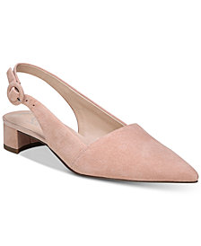 Franco Sarto Vellez Pointed-Toe Slingback kitten heel Pumps