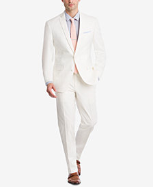 Bar III Men's Slim-Fit Stretch White Solid Suit Separates, Created for Macy's