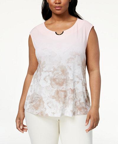 Calvin Klein Plus Size Embellished Top