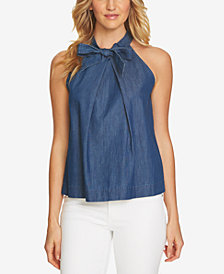 CeCe Cotton Bow-Detail Top