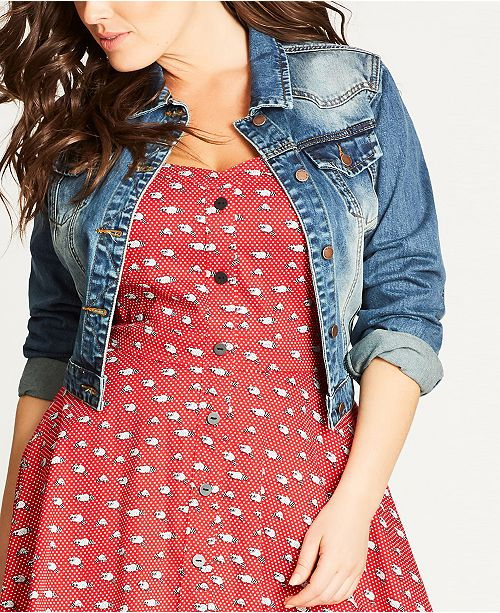 d9517f5961468 City Chic Trendy Plus Size Cropped Denim Jacket   Reviews ...