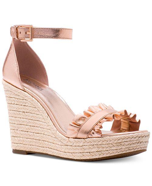 62d47af201b Michael Kors Bella Wedge Sandals   Reviews - Sandals   Flip Flops ...