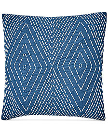 "Lucky Brand Soutash 20"" x 20"" Decorative Pillow, Created for Macy's"