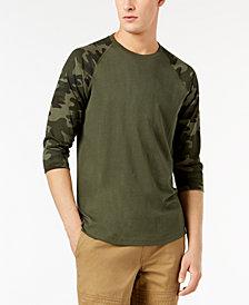 American Rag Men's Raglan Camo T-Shirt, Created for Macy's